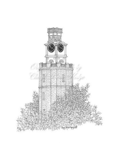 The Clock Tower pen &ink