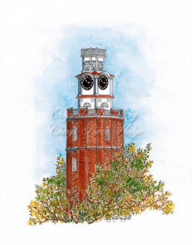 The Clock Tower pen & ink-color
